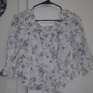 AMERICAN EAGLE FLORAL CROP TOP